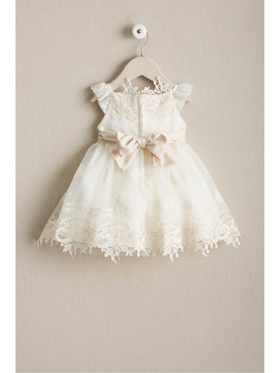 Baby Antique Embroidered Lace Dress