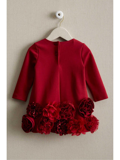 Baby Chiffon Flower Dress  red alt1