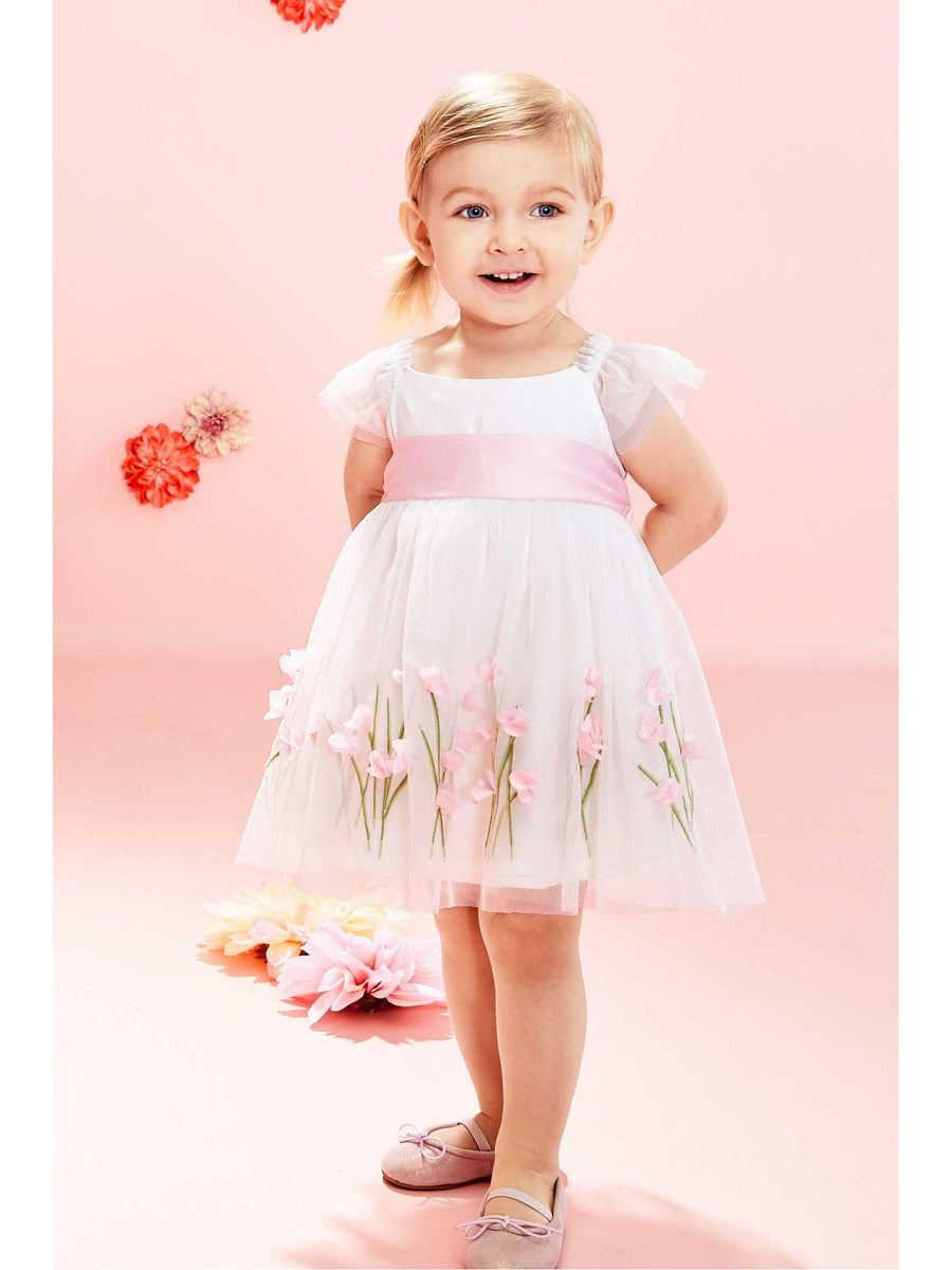 Baby Ivory Sweet Pea Dress