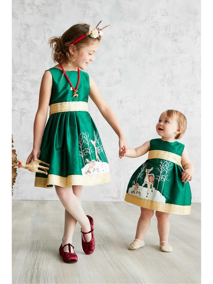Baby Winter Fawn Dress