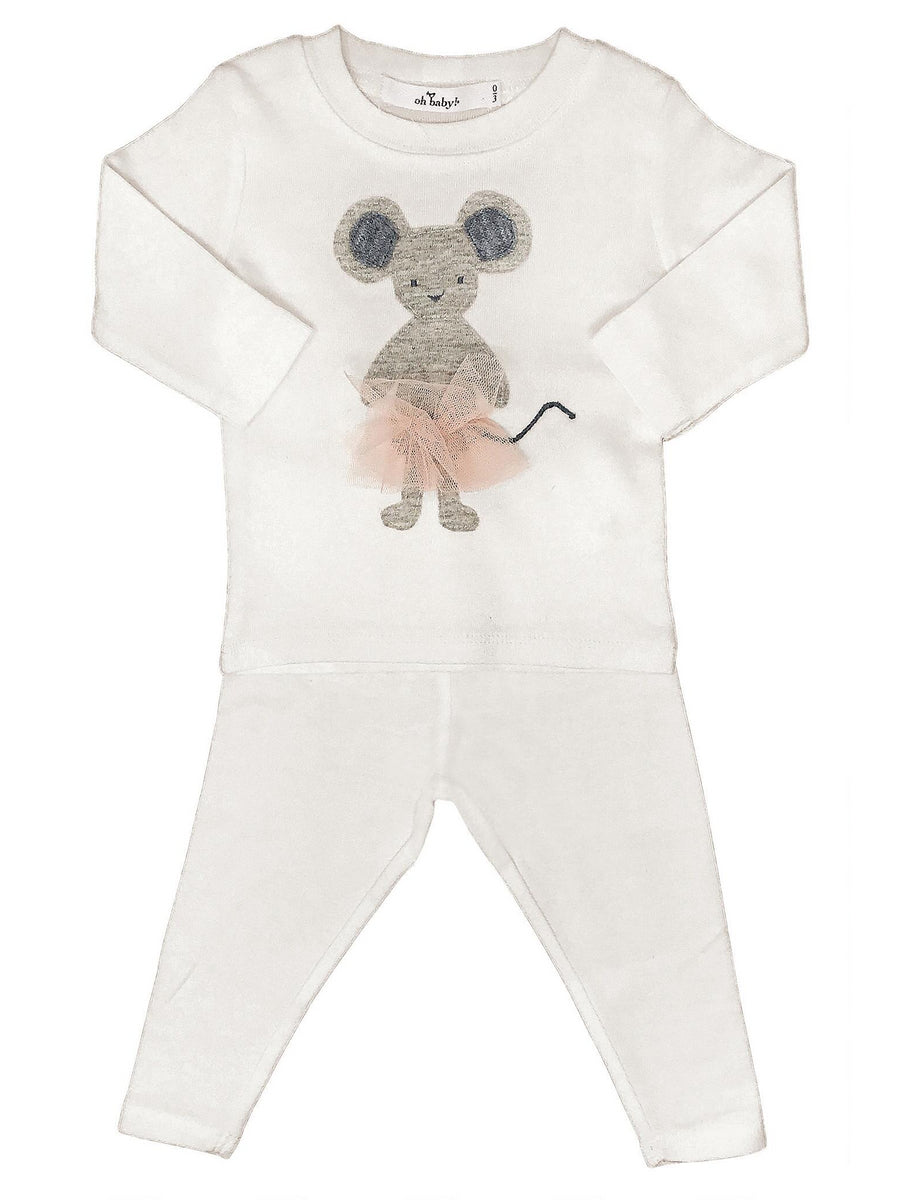Ballerina Mouse 2-Pc Set for Baby