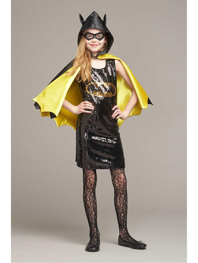Batgirl Sequin Dress Costume for Girls