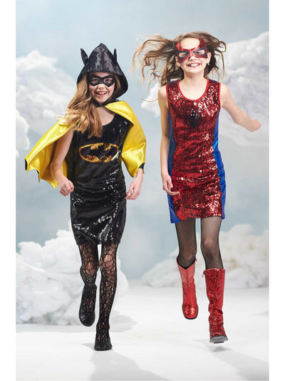 Batgirl Sequin Dress Costume for Girls  bla alt2