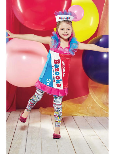Bazooka™ Bubblegum Costume For Girls  mlt alt1