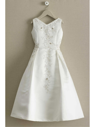 Beaded Satin Special Occasion Dress
