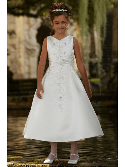 Beaded Satin Special Occasion Dress  whi alt1