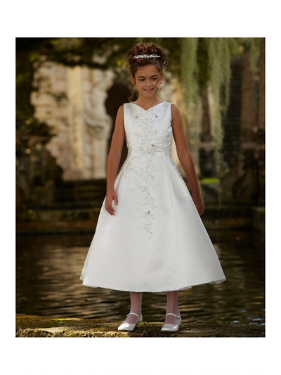 Beaded Satin Special Occasion Dress  whi alt3