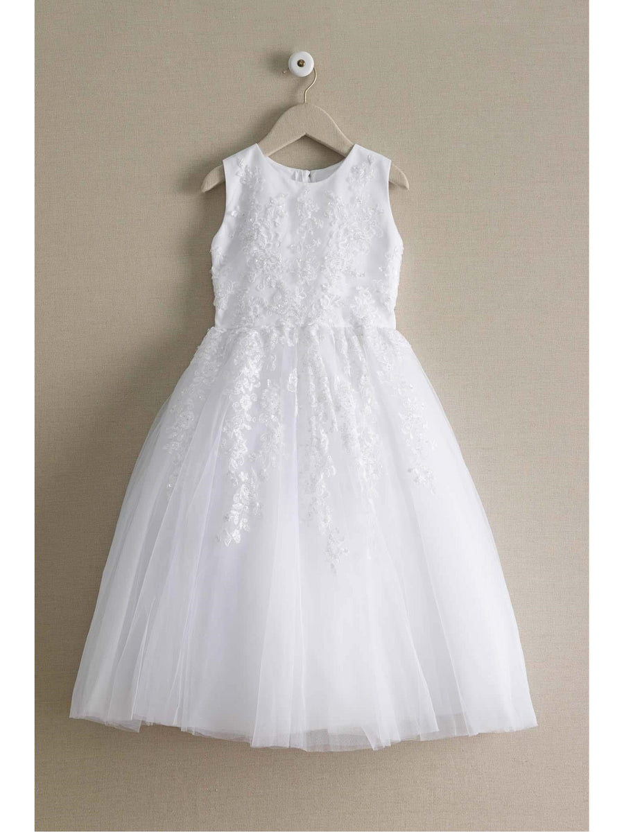 Beaded White Special Occasion Dress