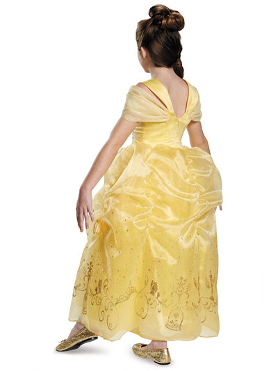 Belle Prestige Costume for Girls  yel alt1