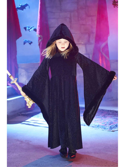 Black Cloak Costume for Girls  bla alt1