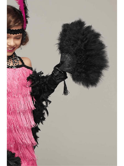 Black Feather Fan  bla alt1