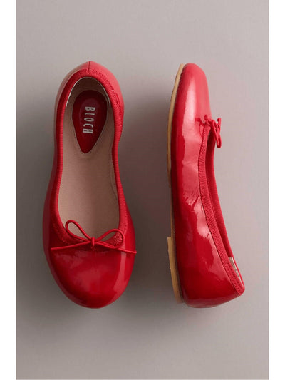 Bloch® Patent Girls Ballet Flats  red 1