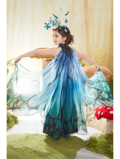 Blue Butterfly Costume for Girls  blu alt1