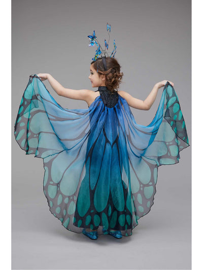 Blue Butterfly Costume for Girls  blu alt2
