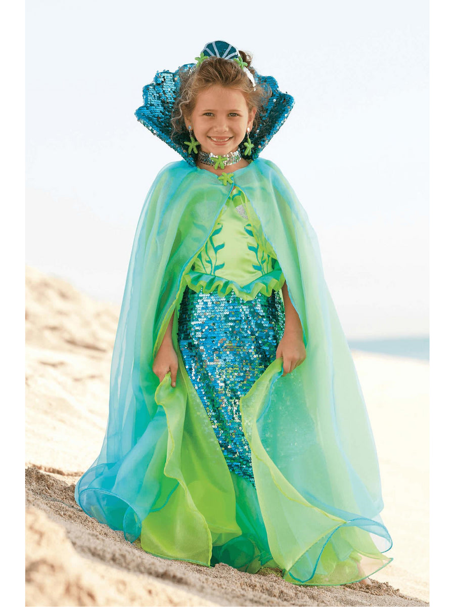Blue Fairytale Mermaid Cape for Girls