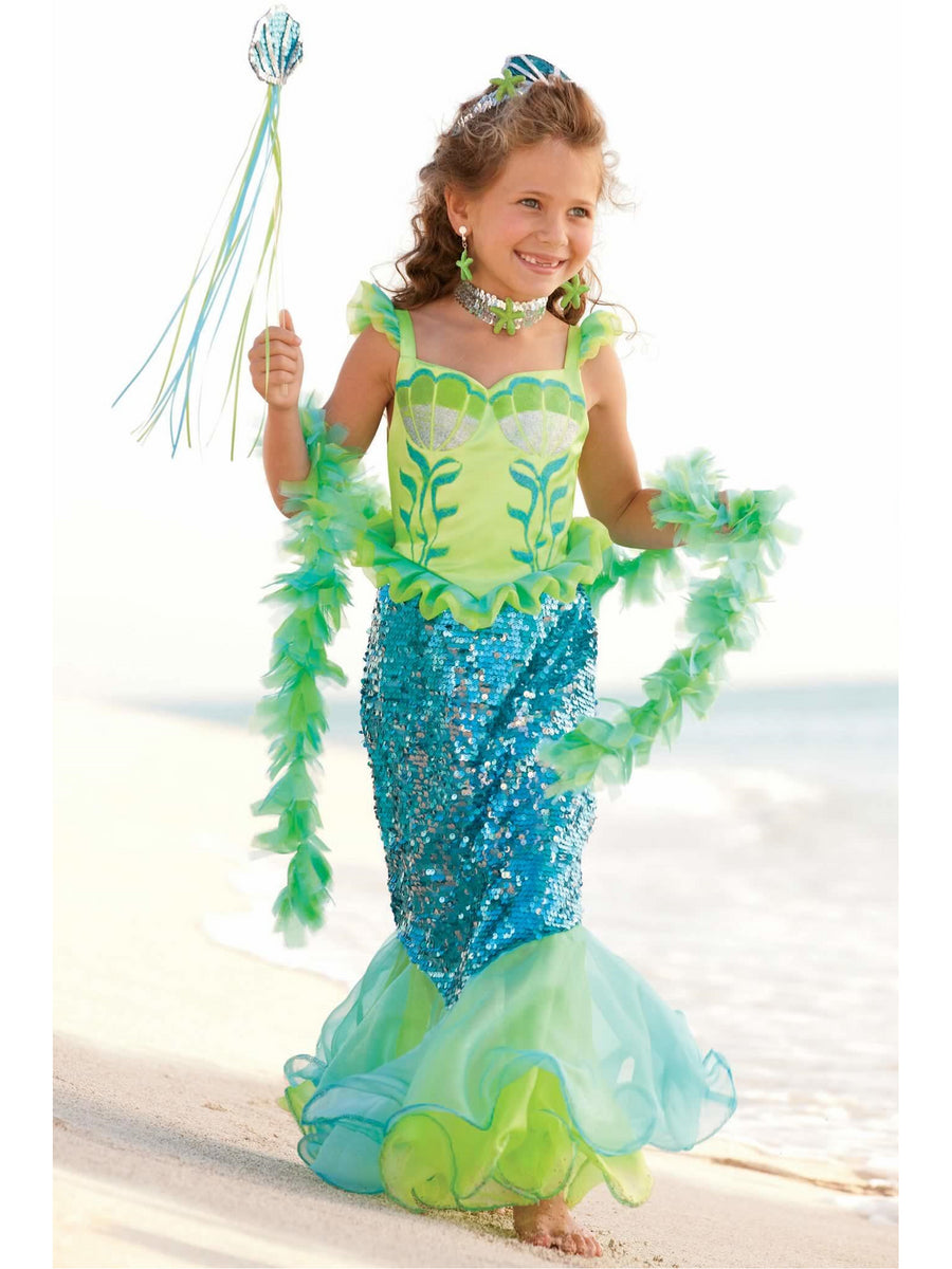 Blue Fairytale Mermaid Costume for Girls