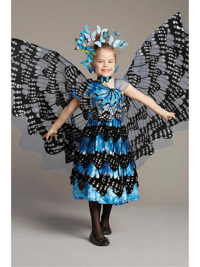 Blue Monarch Butterfly Costume for Girls
