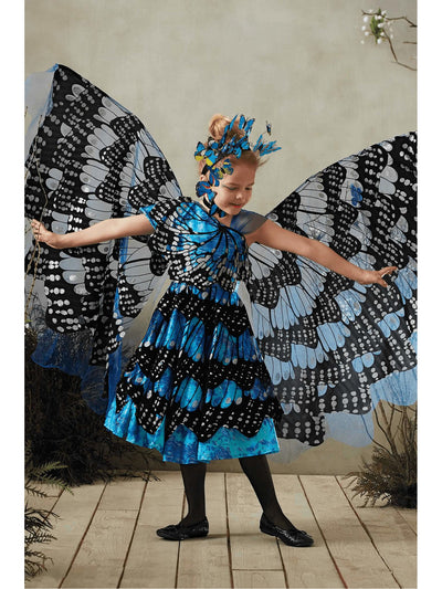 Blue Monarch Butterfly Costume for Girls  blu alt1