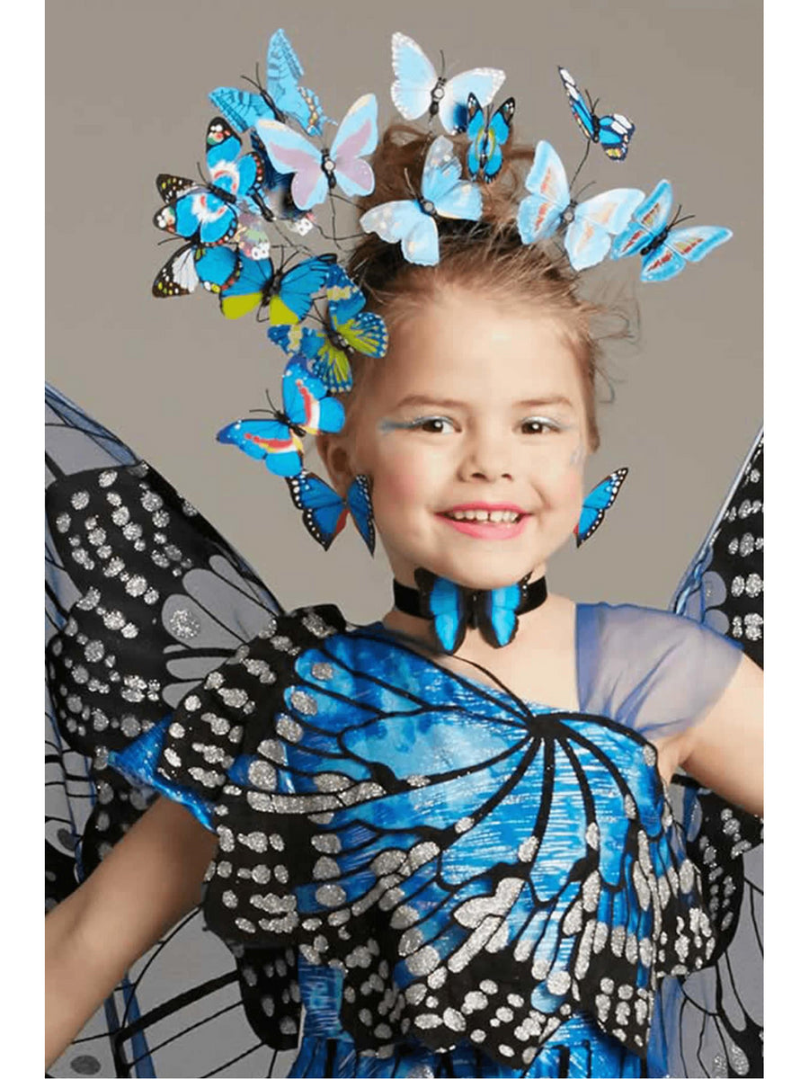 Blue Monarch Butterfly Headpiece