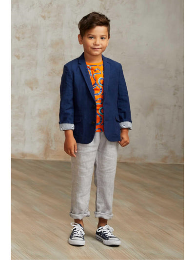 Boys Linen Beach Pants  gra alt1