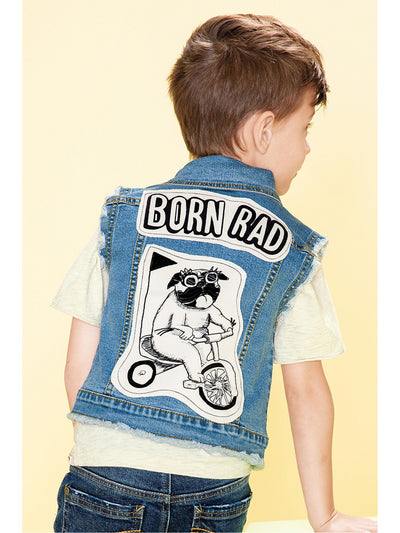 Boys Born Rad Denim Vest  dnmb alt1