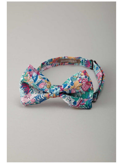 Boys Bright Floral Bow Tie  whi 1