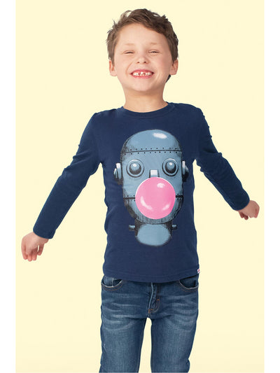 Boys Bubble Bot Tee  nvy alt1