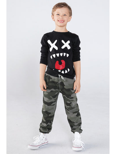 Boys Camouflage Sweatpants  camo alt1