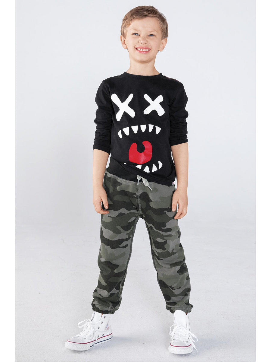 Boys Camouflage Sweatpants