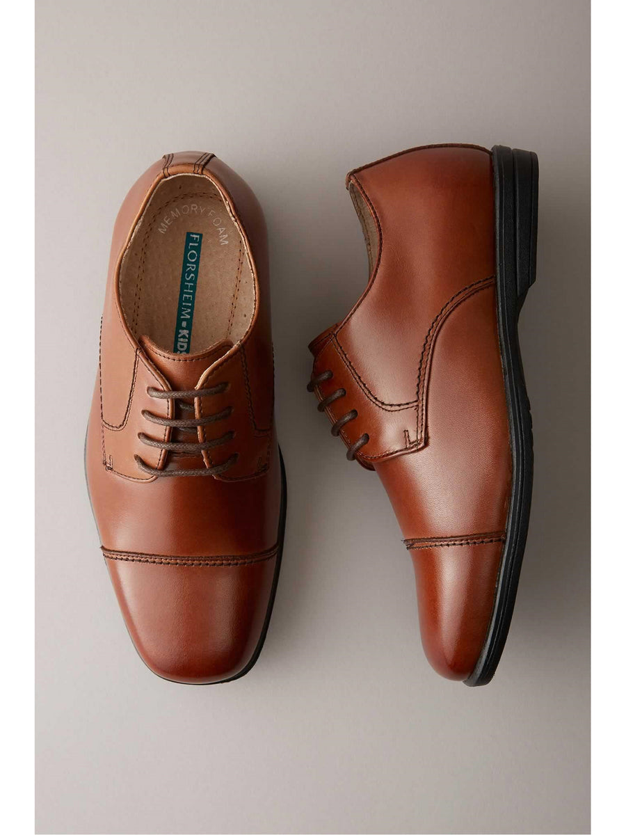 Boys Cap-Toe Dress Shoes