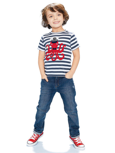 Boys Captain Octopus Tee
