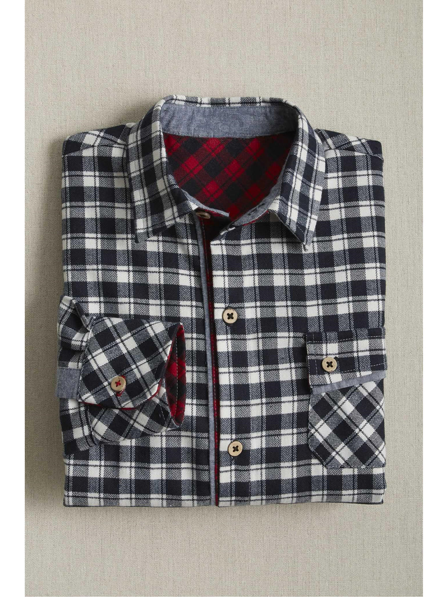Boys Check Flannel Shirt