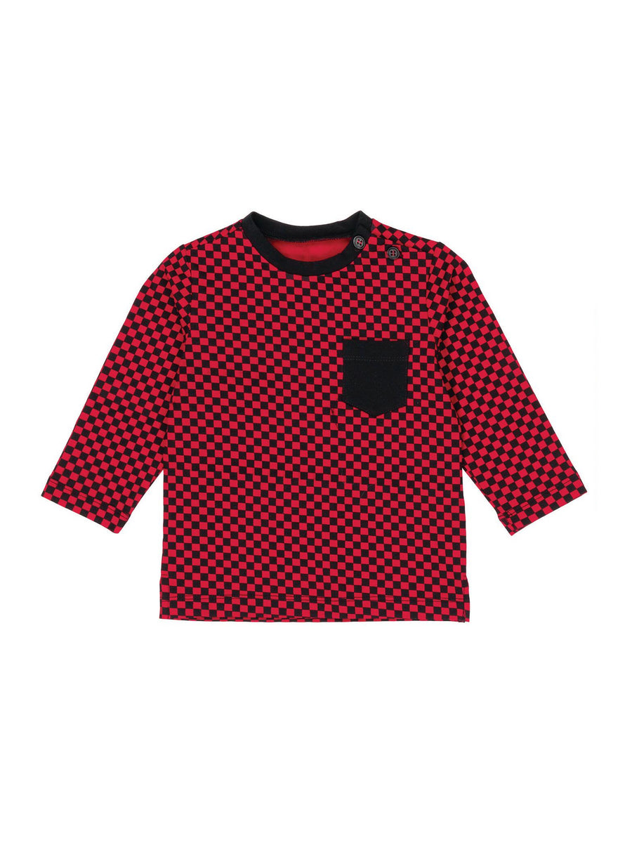 Boys Checkered Tee