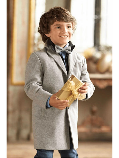 Boys City Coat  gra alt1