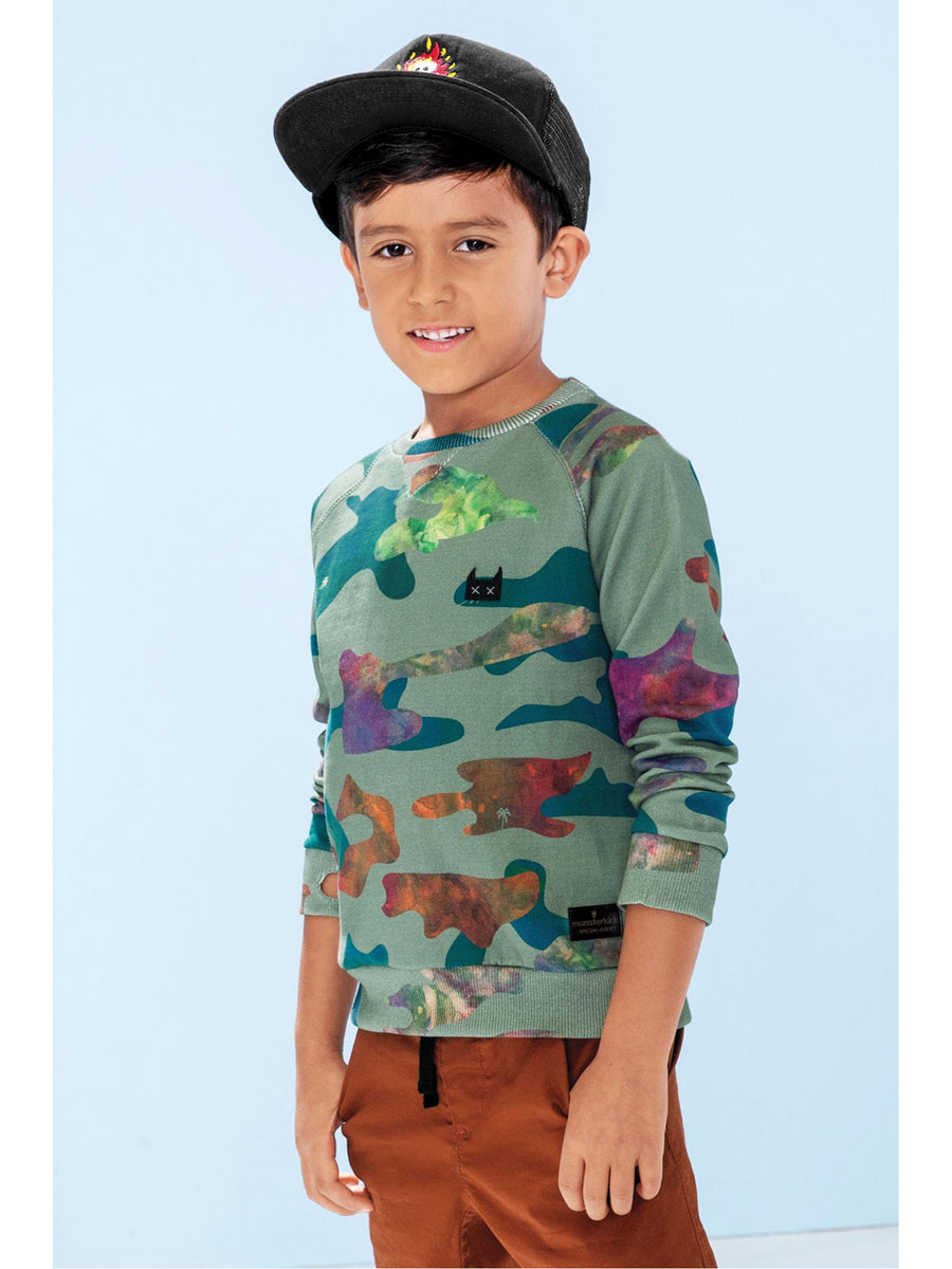 Boys Color Me Camo Sweatshirt