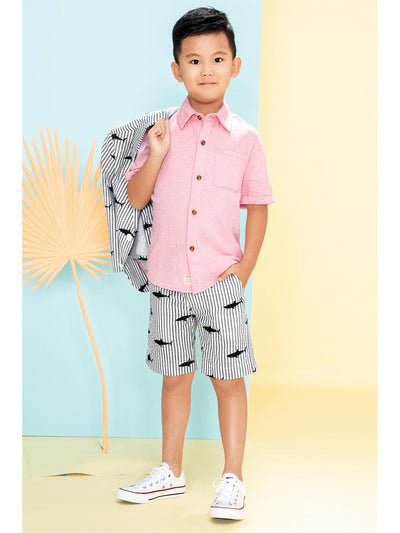 Boys Day at the Beach Shirt  pink alt1
