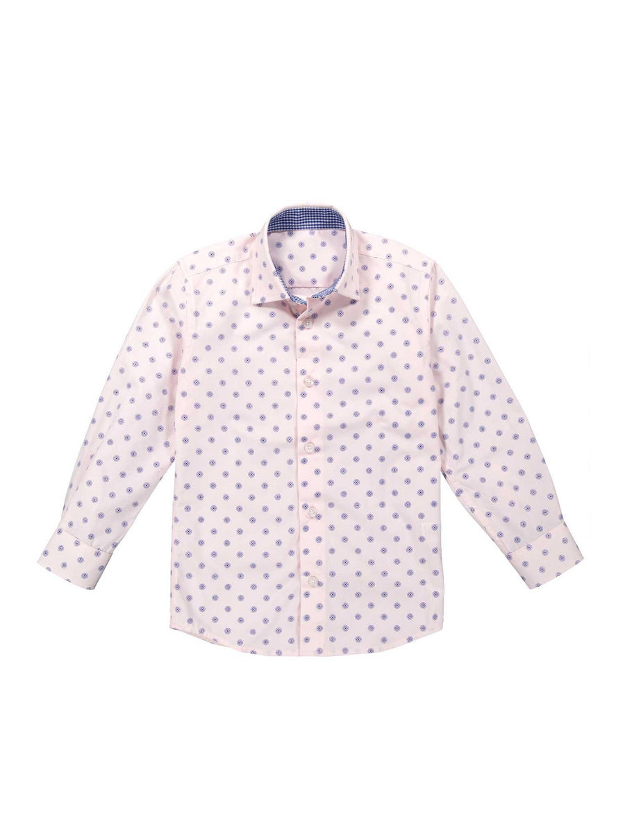 Boys Easy-Care Circle Print Shirt