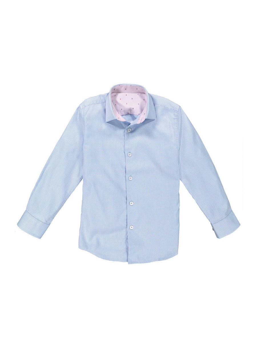 Boys Easy Care Contrast Print Shirt