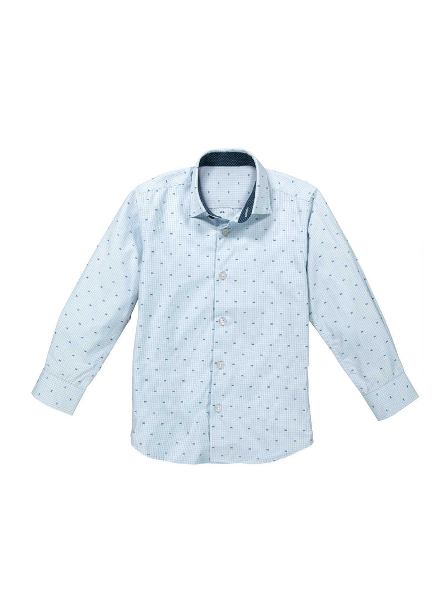 Boys Easy-Care Dots Shirt