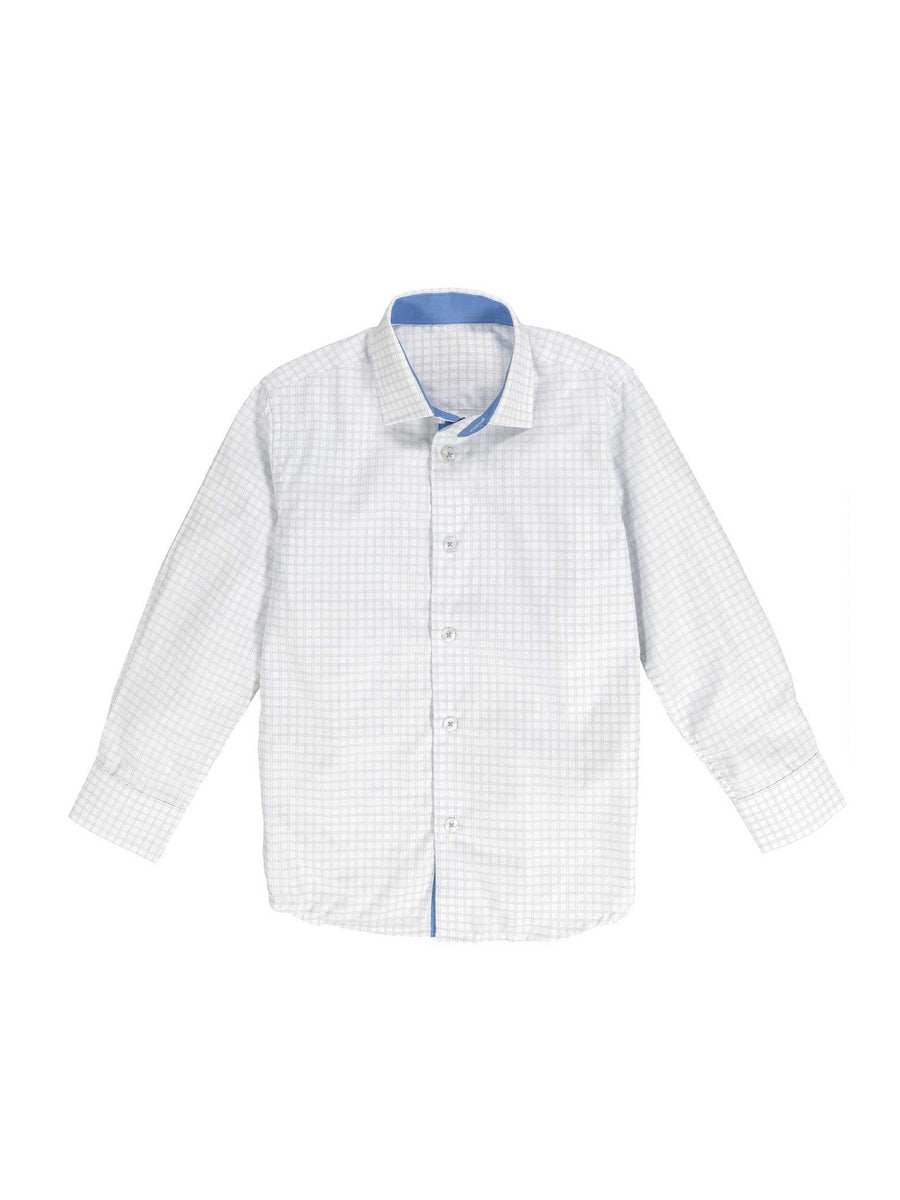 Boys Easy-Care Windowpane Check Shirt
