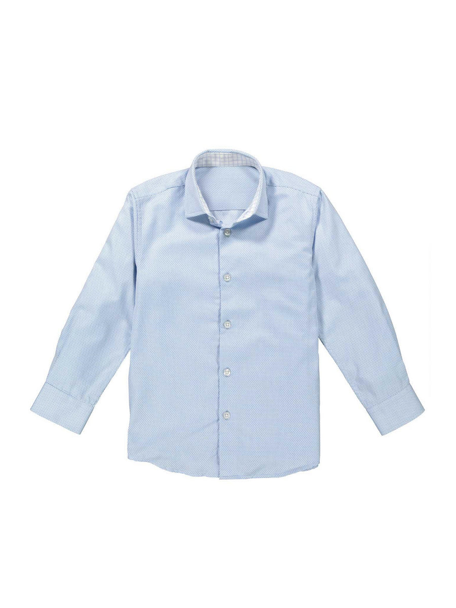 Boys Easy-Care Graph Print Shirt