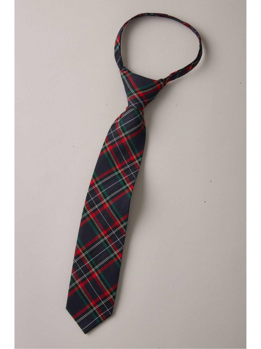 Boys Festive Plaid Tie