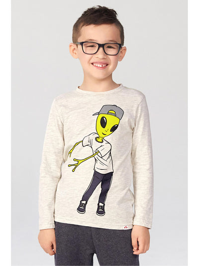 Boys Flossing Alien Tee  clow alt1