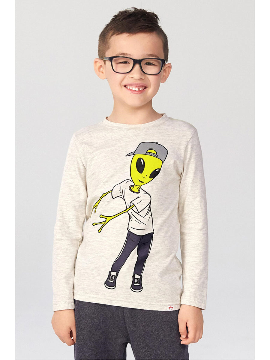 Boys Flossing Alien Tee