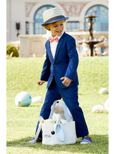 Boys French Blue Mod Suit  blu alt1