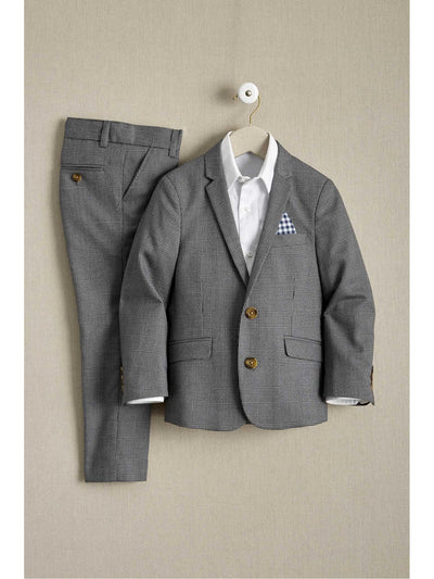 Boys Glen Plaid Mod Suit