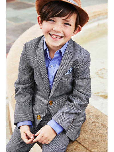 Boys Glen Plaid Mod Suit  gra alt2