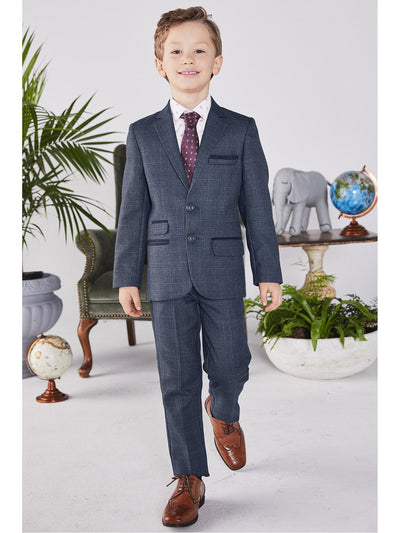 Boys Gen Plaid Suit  nvr alt1