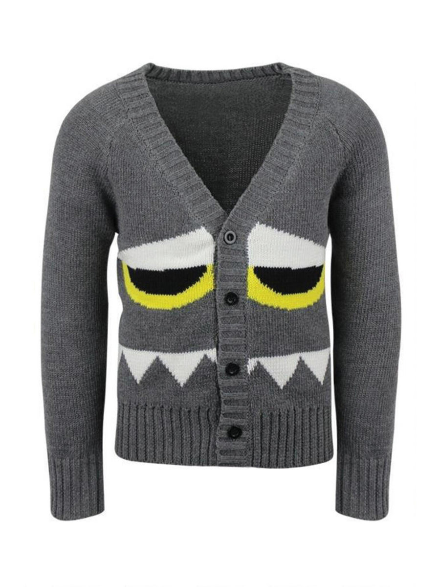 Boys Graphic Monster Cardigan