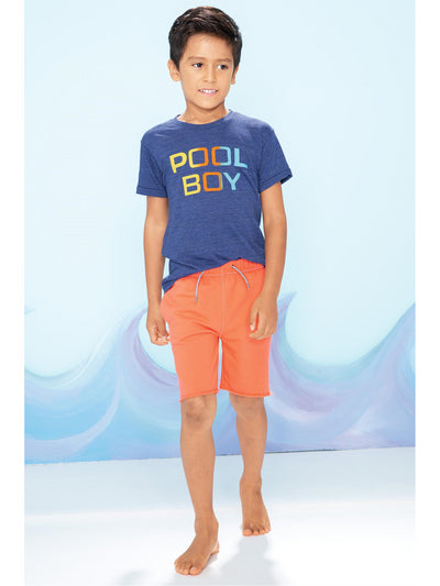 Boys Groovy Guava Camp Shorts  guava alt1